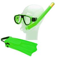Snorkelset met Flippers - Groen