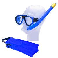 Snorkelset met Flippers - Blauw