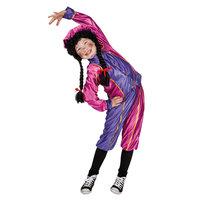 Pieten Kostuum 7-9 Jr Roze/paars