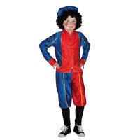 Pieten Kostuum 7-9 Jr Rood/blauw