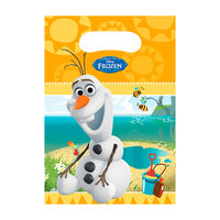Disney Frozen Olaf Uitdeelzakjes, 6st.