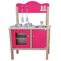 Houten Keuken - Roze