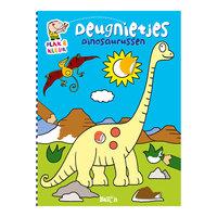 Deugnietjes Plak en Kleur - Dinosaurussen