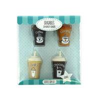 Koffiebekers Gummetjes met Geur, 4st.
