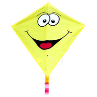Rhombus Vlieger Diamond Smiley - Geel