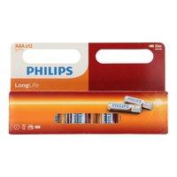 Philips Longlife Batterij Zinc AAA/R03, 12st.