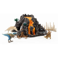 Schleich Reuze Vulkaan met T-Rex