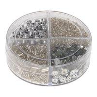 Glitter Zilver in Bakje