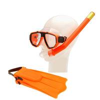 Snorkelset met Flippers - Oranje