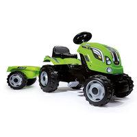 Smoby Tractor met Trailer - Groen