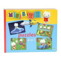 Musti 4 in 1 Puzzelboek