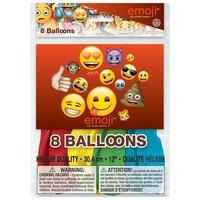 Ballonnen Emoji, 8st.