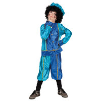Pieten Kostuum 7-9 Jr Blauw