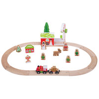 Houten Treinset Winter Wonderland, 25dlg.