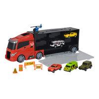 Vrachtwagen met Autoâs in Opbergkoffer