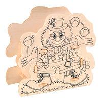 Maak je eigen Houten Spaarpot Clown
