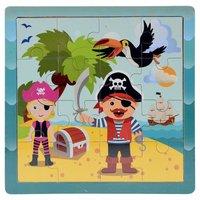 Houten Puzzel Piraten