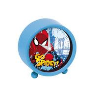 Spiderman Wekker Rond - Blauw