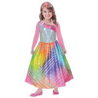 Verkleedset Barbie Regenboog, 8-10 jaar