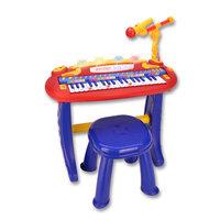 Bontempi Keyboard met Microfoon en Krukje