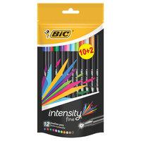 BIC Intensity Fineliners, 10+2st.