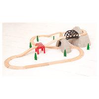 Houten Rails - Berg, Rails En Kleine Berg