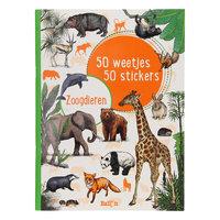 50 Weetjes 50 Stickers - Zoogdieren