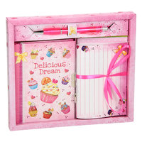Dagboek met Briefpapier - Cupcakes