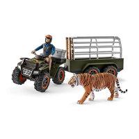 Schleich Quad met Aanhangwagen en Ranger
