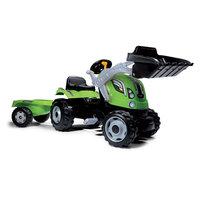 Smoby Max Tractor met Trailer - Groen