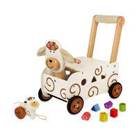 I'm Toy Loop- en Duwwagen Schaap met Trekfiguur
