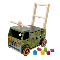 I'm Toy Loop- en Duwwagen Legertruck