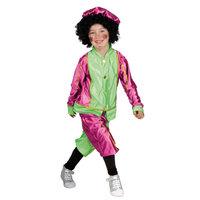 Pieten Kostuum 4-6 Jr Roze/groen