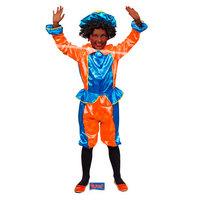 Pieten Verkleedset - Oranje/Blauw - 6 tot 8 Jaar