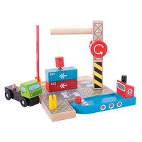 Houten Rails - Container Scheepswerf