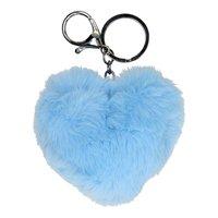 Sleutelhanger Fluffy Hart Blauw