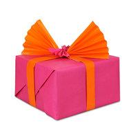 Inpakpapier Dubbelzijdig Oranje/Roze, 3 mtr