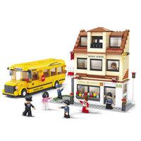 Sluban Schoolbus met Basisschool