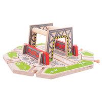 Houten Rails - Industrieel Draaiplateau