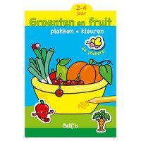 Plakken en Kleuren: Groenten en Fruit. 2-4 jaar