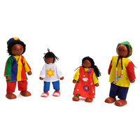 Poppenhuis Poppen Afrikaanse Familie