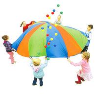 Regenboog Parachute met 24 Ballen