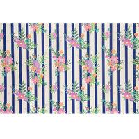 Inpakpapier Strepen met Bloemen, 3mtr.