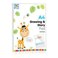 Schrijf- en Tekenblok A4, 40 Sheets