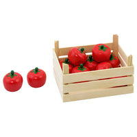 Houten Tomaten in Kist, 10dlg.