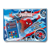 Spiderman Mini Kleurkoffer, 24dlg