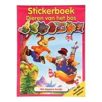 Stickerboek Dieren in het Bos - Dappere Konijn