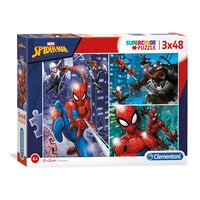 Clementoni Brilliant Puzzel Spiderman, 3x48st.