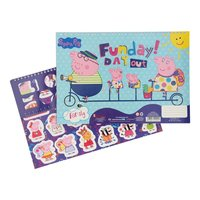 Peppa Pig Schetsboek A4 + Stencils & Stickers