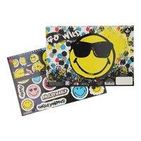 Smiley Schetsboek met Stencils & Stickers
